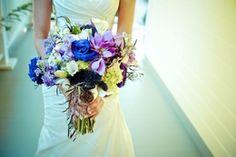 Purple/Pink/Green Bridal Bouquet with Brooch  Mike &Rachel - Portfolio - InFullBloombyMJL