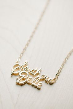 Southern Belle Scripted Necklace