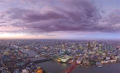 A view of London, looking north-west, from the top of Europe's tallest building, the Shard. These pictures show the view that will be enjoyed from Britain's highest apartments at the Shard.