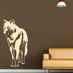 "Style and Apply Wolf Wall Decal Size: 31"" H x 16"" W, Color: Pink"