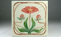 Art Nouveau & Art Deco Tiles. German, Schmider. This item is sold. To visit my website to see what's in stock click here: http://www.richardhoppe.co.uk or for help or information email us here: info@richardhoppe.co.uk