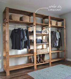 Inspiração de closets criativos improvisados