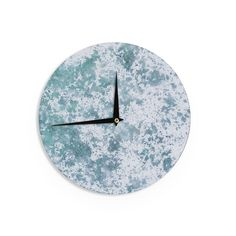 Kess InHouse Will Wild 'Frost' Nature Wall Clock