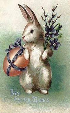 French Seaside Style Home Decor from Boutique de la Mer: Vintage Easter Wishes