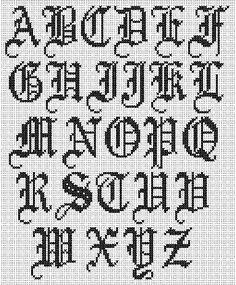 cross stitch font - Buscar con Google                                                                                                                                                     More