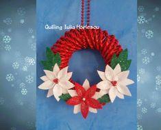 tutorial come realizzare una ghirlanda natalizia con cannucce di carta
