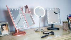 The Best Makeup Mirror with Lights of 2019 - We tested the top-rated lighted mirrors to find the only ones worth buying. Mirrors For Makeup, Makeup Vanity Mirror, Cool Mirrors, Makeup Mirror With Lights, Led Mirror, Oval Mirror, Make Up Mirror, Lighted Mirror, Makeup Vanities