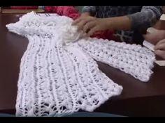 Echarpe de crochê de grampo by Vilma Mauer - YouTube