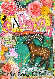 Capricorn art, Capricorn print, astrology art. by ThisRosyLife on Etsy