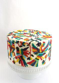Otomi Embroidery Cake