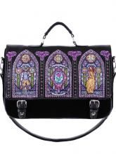RESTYLE.FR Sac cartable vitrail La Belle et La Bête, gothic lolita