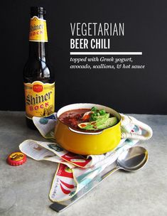 Vegetarian beer chili sounds like a hot night, Im up for that ! - How to!