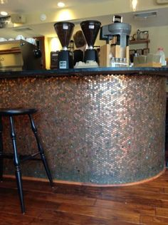 Design trends in tile and pattern: penny tile counter