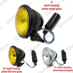 """54.99$  Watch more here - http://ai6uj.worlditems.win/all/product.php?id=32733130575 - """"1PCS 4 1/2"""""""" H4 DEUS Cafe Racer Scrambler Vintage Motorcycle Head Light Decorative Lights Lighting for YAMAHA HONDA Free Shipping"""""""