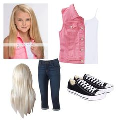 """""""Jojo Siwa outfit"""" by taylia-huyser ❤ liked on Polyvore featuring Splendid, Aéropostale, Artisan Crafted By Democracy and Converse"""