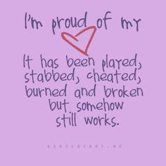 Proud of my heart.