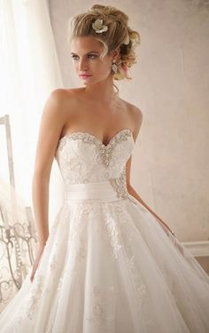 Charming Ball Gown Floor-length Lace Wedding Dress, Wedding Dresses Online