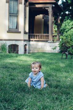 One year old baby girl photos // Auburn, NY // Seward House Museum Family Photography Session