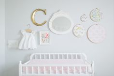 Nursery Gallery Wall with Embroidery Hoop Art