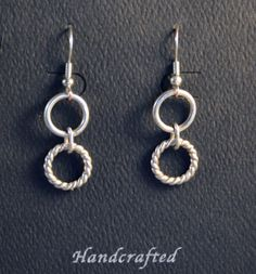 Small Circle Sterling Silver Earrings by DarBreeDesigns on Etsy, $25.00