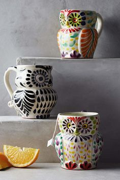 We'd be down to snuggle up with Netflix and these super cute owl mugs from Anthropologie.