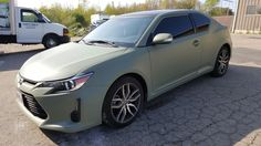 Custom Military Green on this Scion TC. Removable Automotive Paint