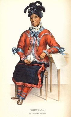 Tshusick, an Ojibway woman, from History of the Indian Tribes of North America, by Thomas McKenney & James Hall, vol. Missouri History Museum Library and Archives. Native American Images, Native American Indians, Native Americans, American Women, Indian Tribes, Costume Collection, History Museum, Native Art, Women In History