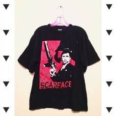 Vtg 90s Scarface tee   🕶 circa 90s Scarface shirt,  size men's medium, some cracking on images. no trades Vintage Shirts Tees - Short Sleeve
