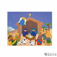 Design Your Own Nativity Sticker Scenes