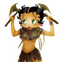 Betty Boop Aztec Warrior photo BettyBoopAztecWarrior.png