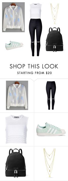 """""""SheIn."""" by minna-998 ❤ liked on Polyvore featuring WithChic, Thakoon, adidas and MICHAEL Michael Kors"""