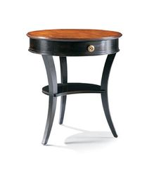 CTH-Sherrill Occasional - Round Lamp Table - 710-935 24x24x26