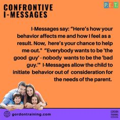 #imessages #communication #gordonmodel #gordontraining Affect Me, How I Feel, Training Programs, Help Me, A Good Man, Best Quotes, Behavior, Communication, Parenting