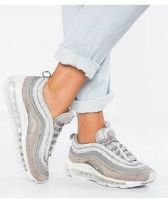 check out c300c ce9a1 Authentic Nike Air Max 97 Premium Baskets Basses Cobblestone White Trainers  Nike Air Max For Women