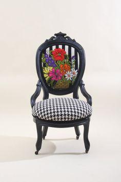 Vintage Refurbished Wooden Parlor Chair - love it