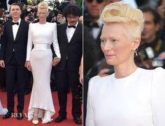 Tilda Swinton In Haider Ackermann – 'Okja' Cannes Film Festival Premiere