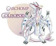Garchomp x Golisopod by on DeviantArt Pokemon Mix, Pokemon Fusion Art, Mega Pokemon, Pokemon Memes, Pokemon Fan Art, Cool Pokemon, Pokemon Cards, Pokemon Stuff, Pokemon Mashup