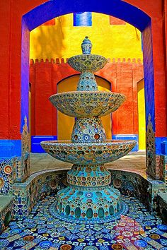 Fountain in San Matias Tlalancaleca, Puebla, Mexico by Gerardo Becerril, via Flickr