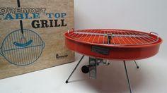 RETRO FOREMOST BBQ GRILL TABLE TOP MID-CENTURY IOB VTG | eBay