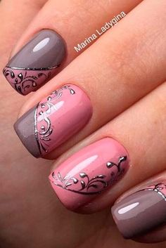 pink and mauve nails