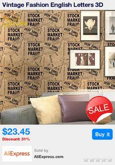 Vintage Fashion English Letters 3D Vinyl Wallpaper Bar Cafe Clothing Store Newspaper Mural PVC Wall Paper Papel De Parede Roll * Pub Date: 11:57 Jun 28 2017