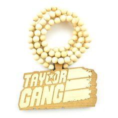 Wood Junkie Necklace Taylor Gang I Wheat - Urban Classics-Shop.nl
