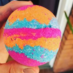 Apricot Freesia shea butter bath bomb... water color changing