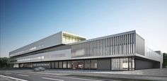 Competitive fire and rescue station Wolfsburg Factory Architecture, Museum Architecture, School Architecture, Architecture Details, Minimal Architecture, High Building, Building Facade, Building Design, Interior Design Hd