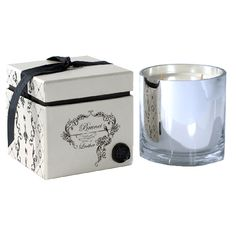 Brunei Leather Black And White Orchid Candle