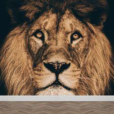 Fotobehang Leeuwenkop. Een mooie leeuw nu als behang voor jouw kamer verkrijgbaar. Zelfklevend en vliesbehang. Vanaf € 17,95 per m2. Altijd een gratis digitale drukproef. Bestellen? YouPri.nl Kidsroom, Kid Spaces, Animals, Desk, Bedroom Kids, Animales, Animaux, Child Room, Animal