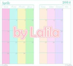 Refill per agenda con mese su due pagine  colori pastello  **********  See more at - https://www.etsy.com/it/shop/LaliLunaStore