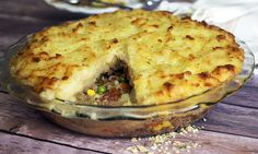 Shepherd's Pie - This classic comfort food, Shepherd's Pie, is a made with a layer of ground beef and sausage and topped with garlicky mashed potatoes. This flavorful and easy-to-make main dish is perfect for supper tonight or it can be frozen and served at a later date!