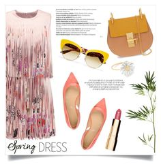 """Beautiful day"" by gold-candle23 on Polyvore featuring Alexis, Sergio Rossi, Chloé, Dolce&Gabbana, Pier 1 Imports, Balmain, Alex Monroe and Clarins"