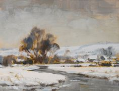 Edward Brian Seago, R.W.S.  1910-1974  WINTER LANDSCAPE  Estimate: 5,000 - 7,000 GBP  oil on board  23 by 30cm., 9 by 12in.